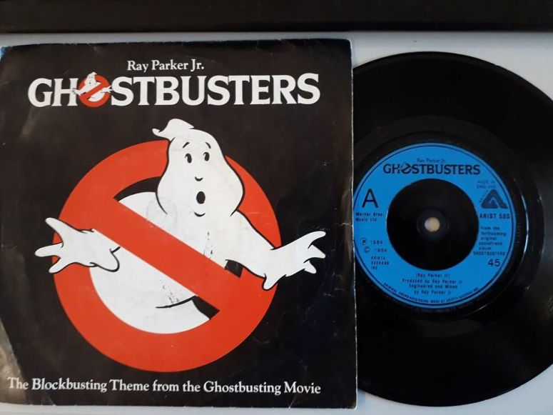 Ghostbusters Record 45 Vinyl