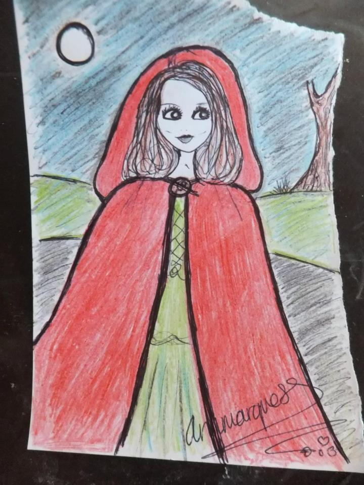 Little Red Riding Hood Art Doodle