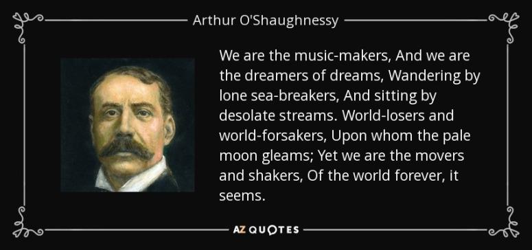 Arthur OShaughnessy Ode