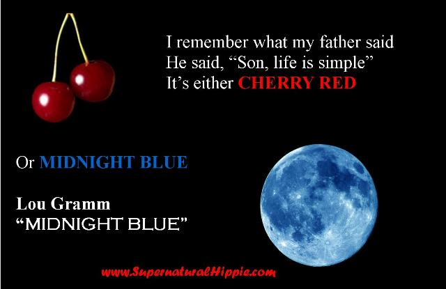 Life is Simple Cherry Red Midnight Blue Music Meme