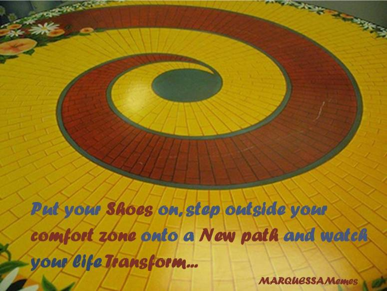 Wizard of Oz Yellow Brick Road Comfort Zone Meme