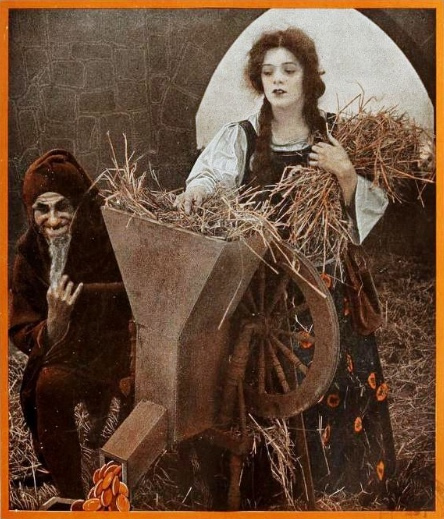 Trickster Rumelstiltskin with Girl with Straw