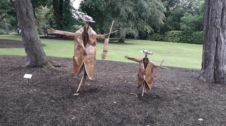 Frank and Frank Junior Sculpture Hugh McGlinchey