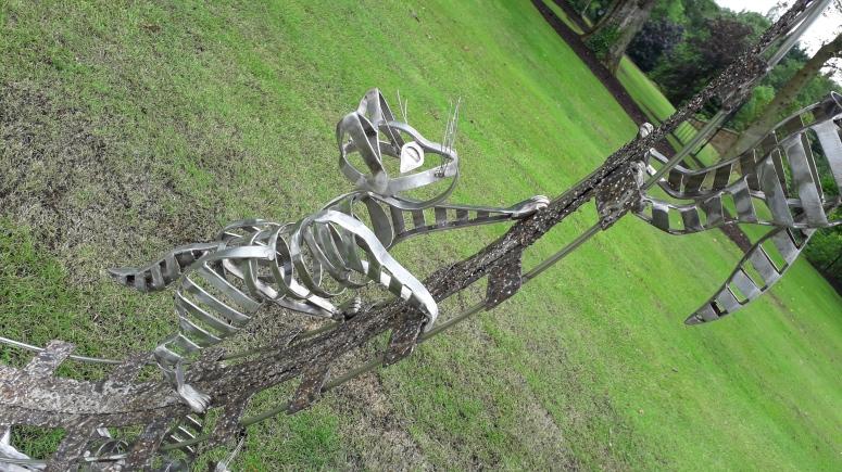 Nigell Connell Bass Metal Cat Sculpture