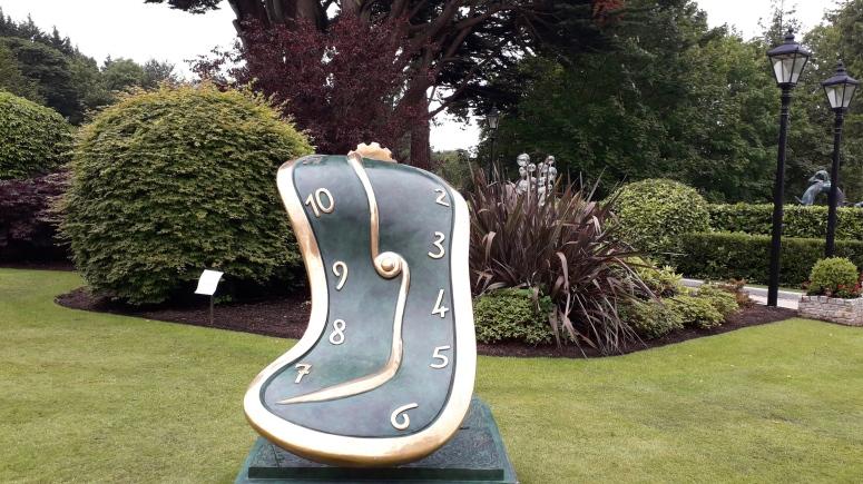 Salvador Dali Melted Clock Sculpture Exhibition