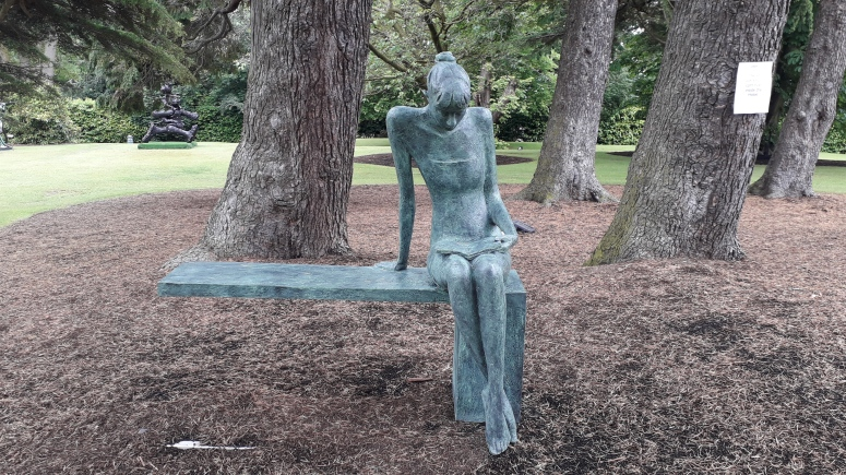 Sculpture Girl on Bench