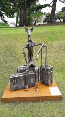 """""""The Traveller"""" Bronze sculpture by Christopher Stone"""
