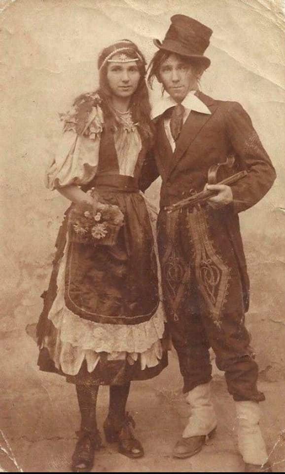 Vintage Gypsy Bohemian Couple photo