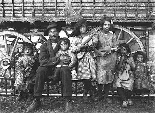 vintage Gypsy Family Photo