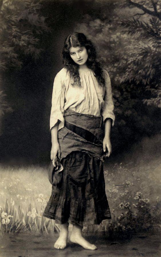 Vintage Gypsy Girl Melancholy Photo