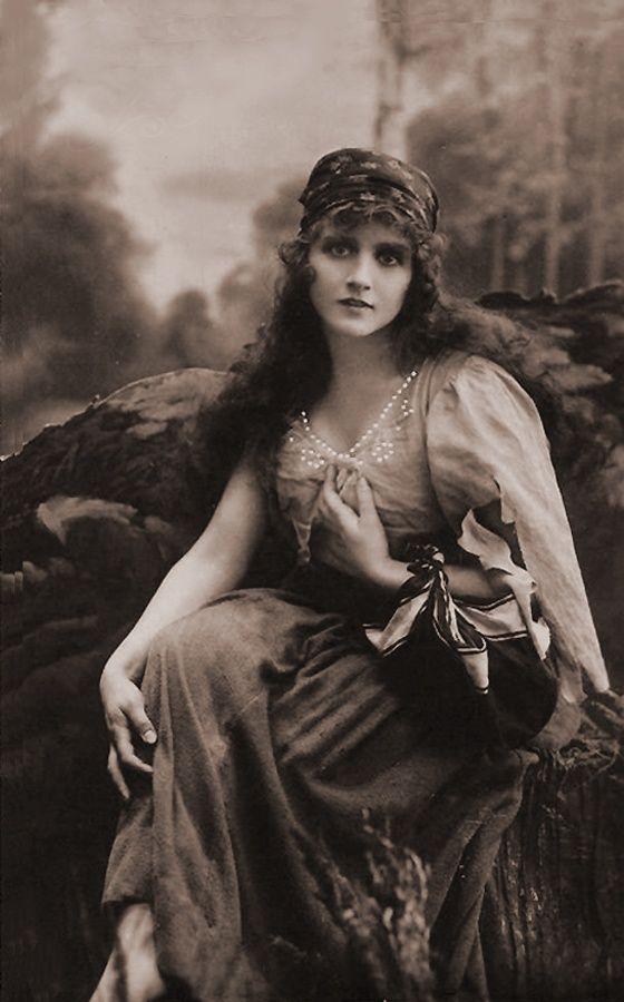 Vintage Gypsy Girl Photo