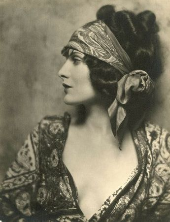 vintage gypsy lady with headscarf photo