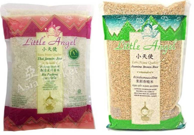 Little Angel Thai Jasmine Rice White and Brown