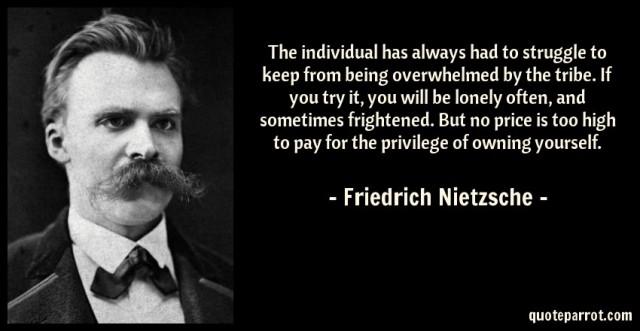 Loneliness Solitude Non Confomist Nietzsche