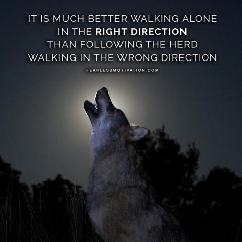 solitude Lone wolf quote