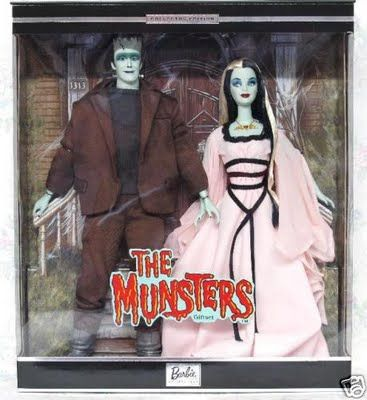 The Munsters Barbie Dolls Ken and Barbie Collectors Items