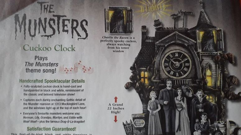The Munsters Cuckoo Clock Advertisement