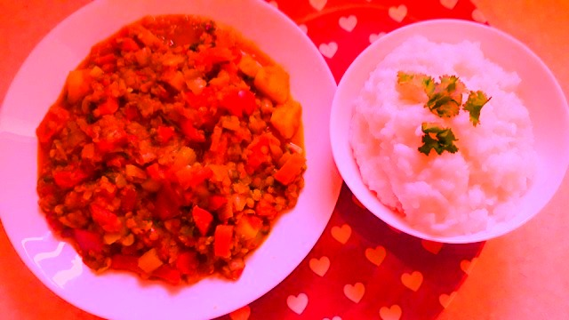 Vegetarian Vegan Vegetable Curry with Thai Jasmine Rice Recipe Supernatural Hippie