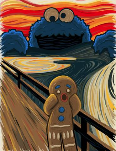 Ginger Bread Man The Scream with Cookie Monster