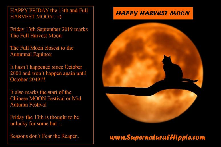 Harvest Moon Full Moon Friday the 13th September 2019 Supernatural Meme