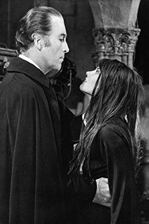 Dracula AD1972 Caroline Munro with Dracula