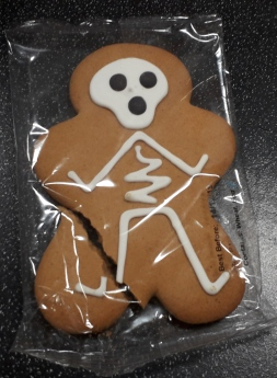 Spooky Skull Gingerbread Man
