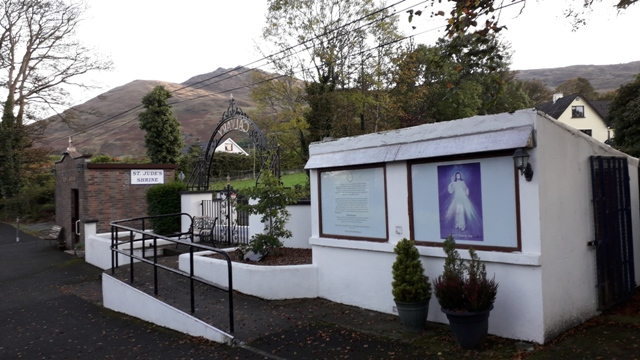 St Judes Shrine with Mountains