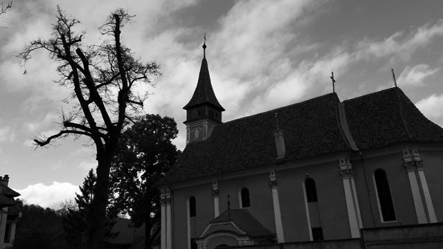 Church beside Graveyard Brasov