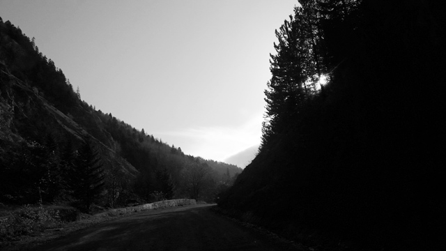 Driving through The Carpathian Mountains