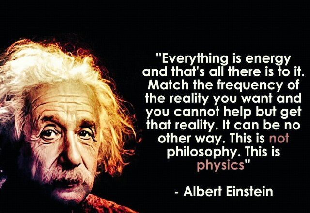 Einstein energy and frequency quote