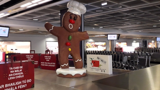 Giant GingerBread Man Dublin Airport