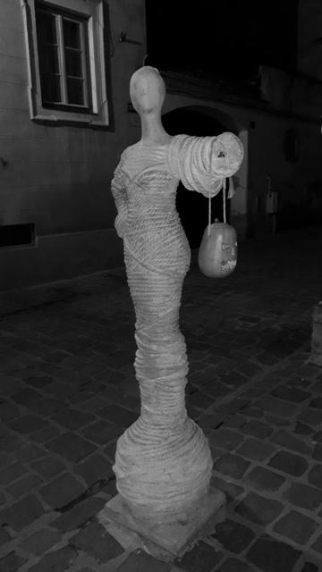 Rope Street Sculpture Brasov