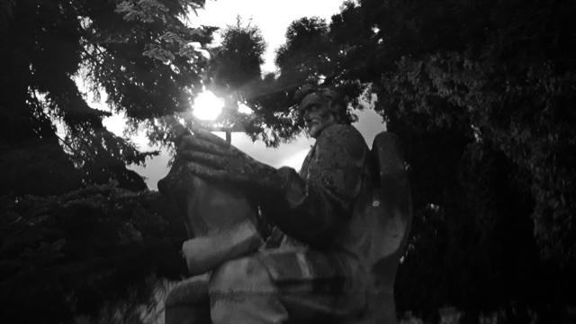 Statue in Church Brasov