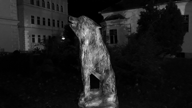 Wolf Carving Sculpture Catherines Gate Brasov