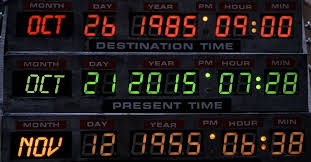 Back to the Future Time Machine Dates