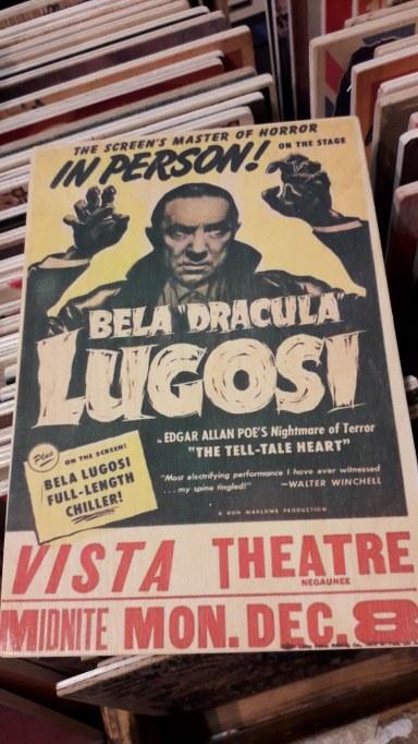 Bela Lagosi Dracula Wooden Artwork