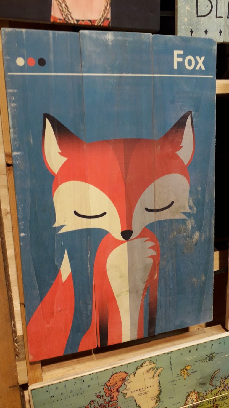 Cute Red Fox Wooden Art