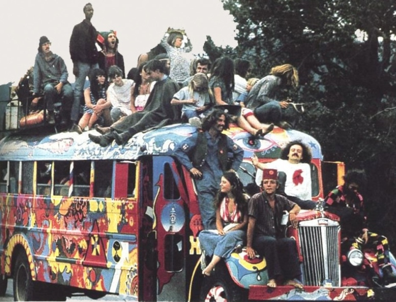 Hippies and Hippy Bus