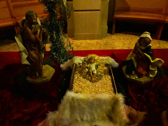 Nativity Scene in Church