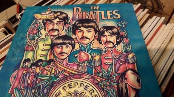 The Beatles Wooden Artwork