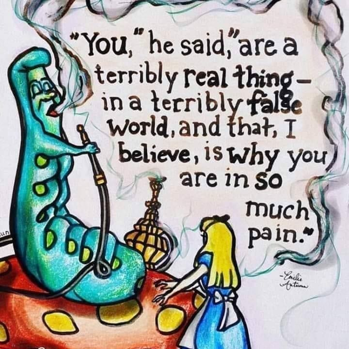 Alice in Wonderland art and quote
