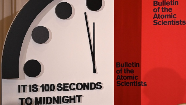 Bulletin of the Atomic Scientists Doomsday Clock 100 Seconds to Midnight