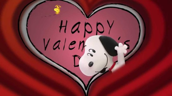 Happy Valentines Day Snoopy Heart