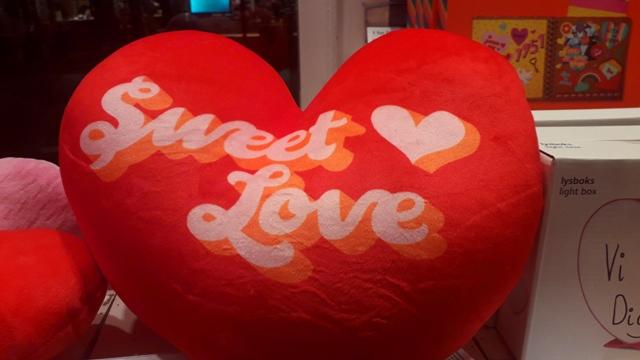 Heart Shaped Sweet Love Red Cushion