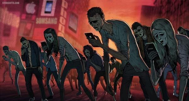 Mobile Phone Zombies Art