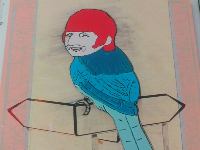 The Beatles Ringo as a Bird Art
