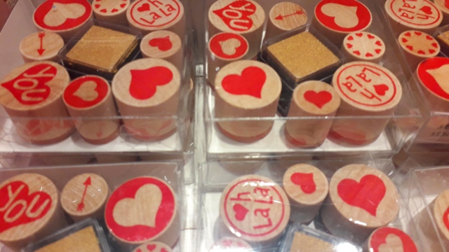 Valentines Love Heart Stamps