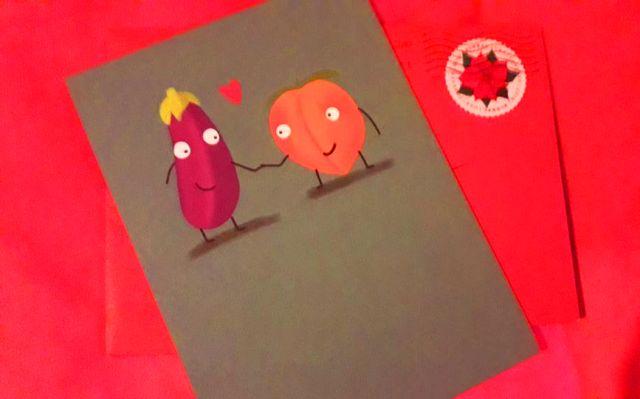 Veggie Valentine Card