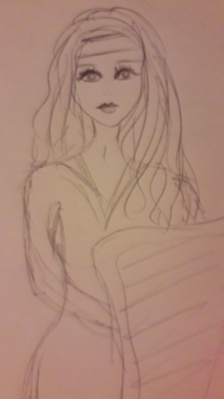 Celtic girl sketch