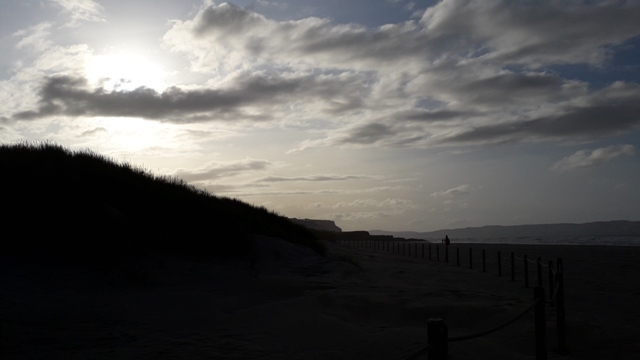 Friday the 13th Dark skies Beach walk